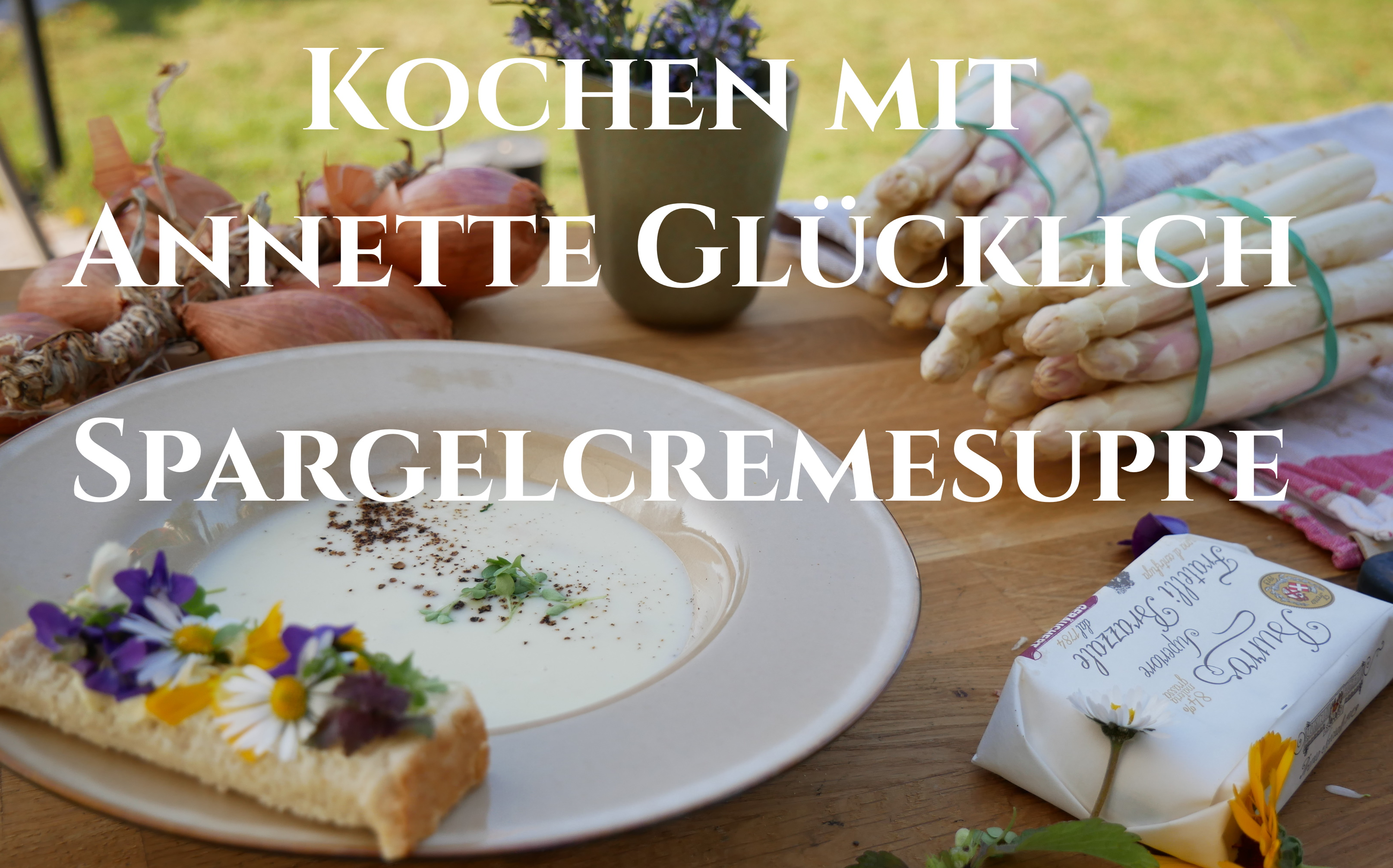 Spargelcremesuppe selbstgemacht